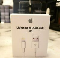 Authentic OEM Apple iPhone XS 8 7 Charging Lightning USB Data Cable iPad iPod 2m