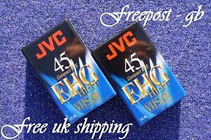 2 x QUALITY JVC EC-45 VHS-C VIDEO CAMCORDER TAPES / CASSETTES EHG RANGE