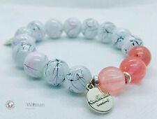 Cherry Quartz with Hand Painted 12MM Beads Bracelet