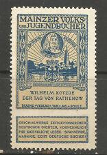 Germany/Mainz Volks & Jugendbucher poster stamp/label (Book #7)
