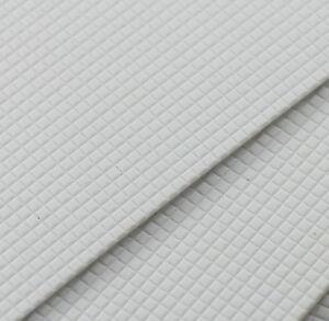 ABS18 4pcs ABS Styrene Plasticard Floor Wall brick Sheet 215mm x 300mm White