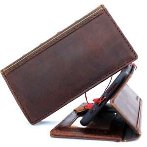 Genuine Leather Case for Apple iPhone Xs Book Wallet Handmade Cover Luxury Cards
