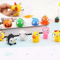 Keyring Animal Squeeze Toy Out Eyes Doll Stress Relief Keychain Ring  Dwgp