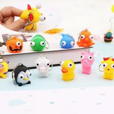 Keyring Cute Animal Squeeze Toy Pop Out Eyes Doll Stress Relief Keychain R giyt