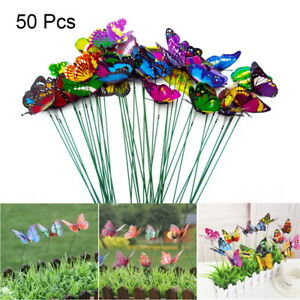 40Pcs Butterfly Garden Metal Stake Patio Lawn Yard Wedding Outdoor Village Decor
