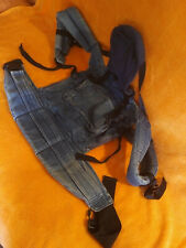 Babytrage Ergo Organic, Bauchtrage sowie Rückentrage, Tragesack blau Jeans