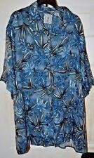 Caribbean Round Tree Short Sleeve Button Front Shirt XLT TALL Rayon