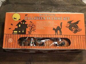 Vintage Halloween Jack-o-Lantern 10  Piece Decorative Light Set Pumpkin 🎃