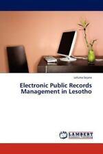 Electronic Public Records Management in Lesotho by Lefuma Sejane (2011,...