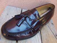 COLE HAAN Mens Dress Shoes Dark Burgundy Casual Slip On Tassel Loafers Sz 9.5EEE