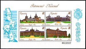 SPAIN 1989 National Heritage. Architecture: Royal Castles, MNH