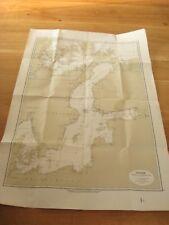 alte Karte Ostsee Küsten und Sonderkarten von 1921 Rügen Skagerrak