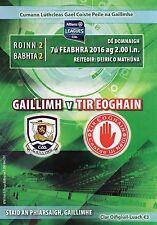 GAA - Galway v Tyrone Allianz Football League 2016 Programme - Pearse Stadium