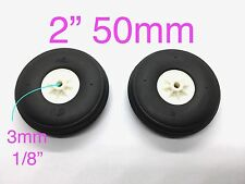 "1Pair Ultra Light Weight PU Wheels for RC Airplane 2"" x ⌀1/8"" TH006-04204"