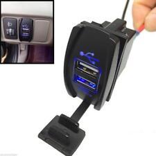 Azul Doble Enchufe Adaptador Vechile Socket Cargador USB Para Coche 2 Puertos