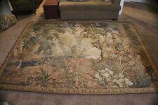 """Heirloom European Tapestries """"Verdure with Columas"""" 100% Handwoven Wool Tapestry"""