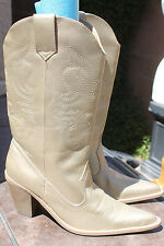 Charlotte Russe BOOTS SHOES gold Metallic Pull On Western Cowboy Women's 9 NEW
