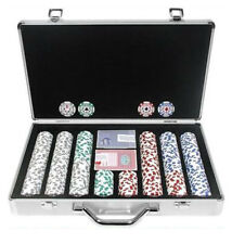 POKER FICHES SET 400 PEZZI CHIPS IN METALLO CON PRINT