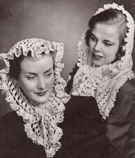 Vintage Knitting Crochet PATTERN Fascinator Head Scarf