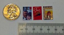 Dollhouse Miniature Vintage Magazines Books Lot of 3