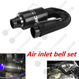 3'' Carbon Fiber Air Feed Cold Filter Intake System Pipe Induction Extension Kit