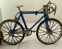 Vintage  Miniature Micro Model Bike Bicycle Racing Ten Speed Blue WA WA XING?