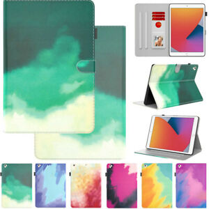 Shockproof Folding Folio Leather Cover w/ Card Slots For Apple iPad Model Tablet