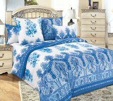 Gzhel style Russian bed linen set