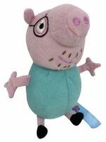 """Peppa Pig """"Daddy Pig"""" Soft Toy Plush Teddy Baby Pram Cot Crib Nursery (7 inch)"""