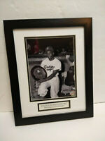 Jackie Robinson Hall of Fame Brooklyn Dodgers framed photo accepting award 14x16