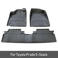 1SET Car Floor Mats For Toyota land cruiser Prado TPE Carpet Foot Boot Liner Mat