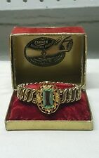 VINTAGE VICTORIAN CARMEN ADJUSTABLE GOLD FILLED BRACELET W/BOX BEAUTIFUL