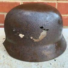 Original WW2 Normandy Relic German Army Helmet - Ideal for wall lamp - #56