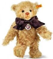 NEW STEIFF RARE Mohair Teddy Bear + Steiff Gift Box Ideal Boy Girl Gift 003523