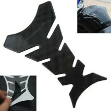 3D Carbon Decal Fiber Fit Motorcycle Oil Gas Fuel Tank Protector Gel Pad Sticker