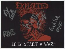 Wattie The Exploited (UK Punk Band) Signed Photo Genuine In Person + COA