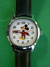 Rare Bradley Mickey Mouse Silver Tone Square Face Women's Quartz Watch