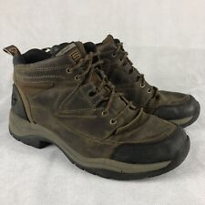 Ariat Terrain Hiking Boots Mens 12 Brown Leather Mid Ankle Trail