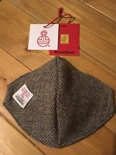 "Lovely Quality ""Harris Tweed"" Herringbone Green/brown Face Covering- wire/wash"