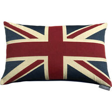 Union Jack Cushion Cover | British 40x60cm Designer Cushion | Linen Cotton Flag