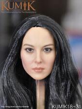 "1:6 Scale KUMIK KUMIK18-31 Black Hair female head Sculpt F 12"" Action Figure"