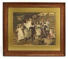"""Antique Hand Colored Litho Arthur J Elsley 1902 """"Baby's Birthday"""" S P Winder"""