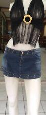 Blue Wash Denim  Short Mini Skirt  With Zip Pockets 10