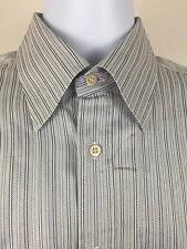 PAUL & SHARK Yachting Mens Blue Striped L/S Button Down Shirt - Size M EUC