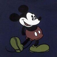 DISNEY MICKEY MOUSE Men's T-Shirt - Classic - Retro - Vintage - Blue -Size L .