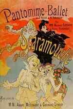 A4 photo CHERET Jules 1836 1932 Scaramouche 1890 couverture imprimé Poster
