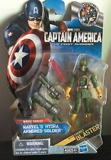 "Hydra Armored Soldier Marvel 3.75"" Action Figure Captain America energy blaster"