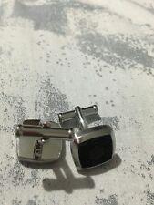 montblanc stainless steel rubber cufflinks