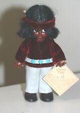 Vintage Carlson Navajo Indian Brave doll w/tag #6-13 googly sleepy eyes detailed