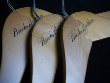 NEW! 3 - BROOKS BROTHERS-LOGO Wooden Suit/Pants/Shirt Hangers Hanger  ** SALE**